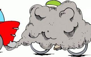Почему идет черный дым при запуске холодного двигателя? это нужно решать