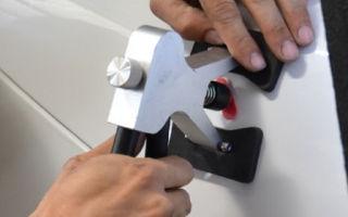 Как выправить вмятину на двери автомобиля? проверенные и бюджетные способы