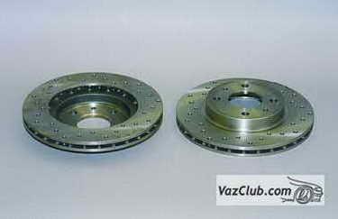 Какие тормозные диски лучше поставить на ваз 2110 и 2114? Сокращаем тормозной путь