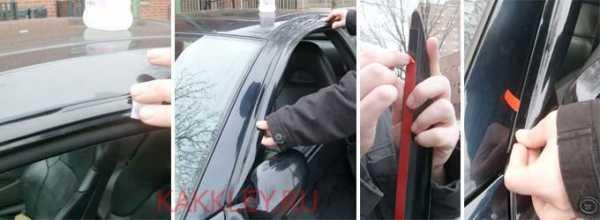 Как приклеить ветровики (дефлекторы) на машину? Список вариантов