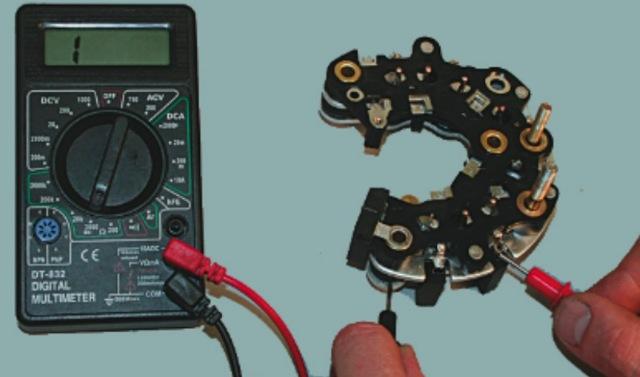 Как проверить диодный мост генератора мультиметром? Подробный обзор