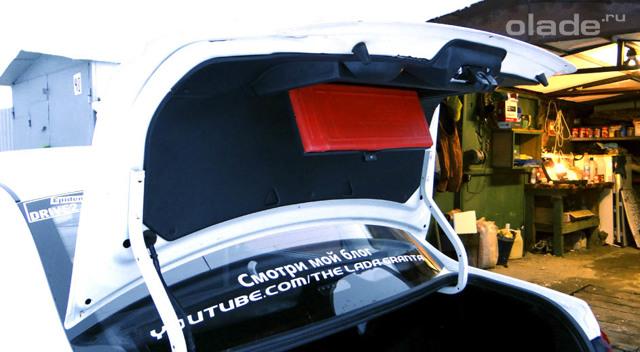 Обшивка крышки багажника лады гранта. Красота своими силами