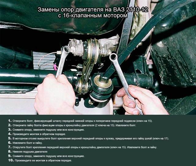 Замена подушек двигателя на ваз 2110 и 2112. Стоит попробовать