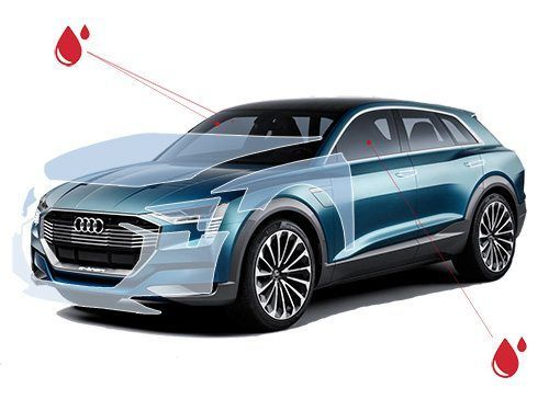 Бронирование автомобиля защитной пленкой. Защита от сколов лкп