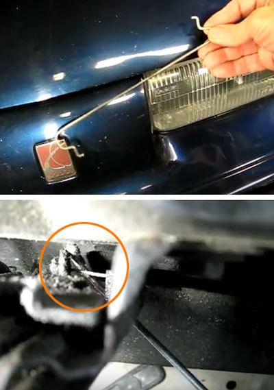 Как открыть капот, если порвался тросик? 2 безотказных способа