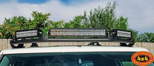 Установка светодиодной балки на крышу внедорожника. Света мало не бывает