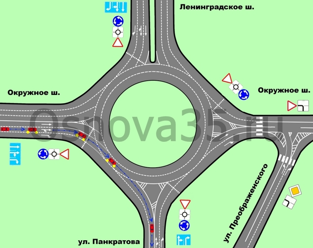 Как правильно проезжать круговое движение (кольцо)? Важные правила