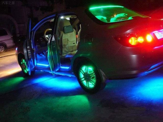 Как установить светодиодную ленту на машину? Приятный тюнинг