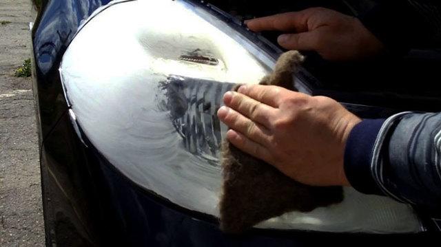 Как и чем отполировать пластиковые фары? Привет яркий свет
