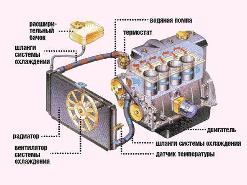 Малый и большой круг охлаждения двигателя. Рассматриваем систему