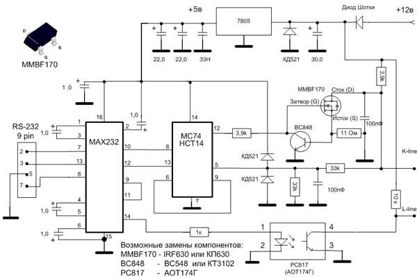 Как сделать usb k-line адаптер своими руками? Покоряем инжектор