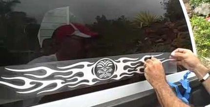 Как наклеить наклейку на машину, на стекло, а также как их снять?