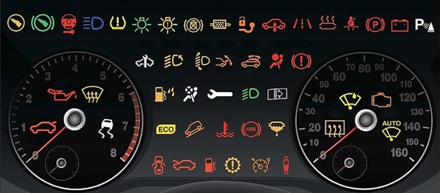 Обозначения на приборной панели автомобиля. Что означают значки?